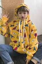 Women's Dinosaur Hoodie Korean Style