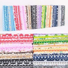 100% 면 Fabric 10 색 꽃 Print DIY 봉 제 천 Material Mixed Style (High) 저 (Quality 7 Sheet Patchwork 추가 계수(China)