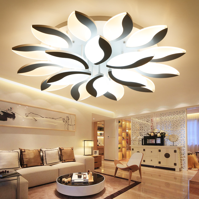 New leaves acrylic chandeliers for living room modern led chandelier lighting home lighting iluminacion led techo Free shipping modern crystal chandelier led hanging lighting european style glass chandeliers light for living dining room restaurant decor