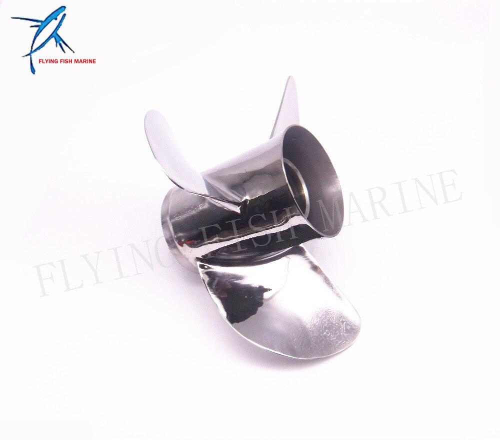 Boat Motor Stainless Steel Propeller 13x17 K For Yamaha 60HP 70HP 75HP 80HP 85HP 90HP 115HP 130HP Outboard Engine