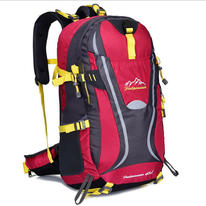 ФОТО Large capacity mountaineering backpack bag outdoor camping hiking backpack men travel bags Sports bag for women 45L 7 color