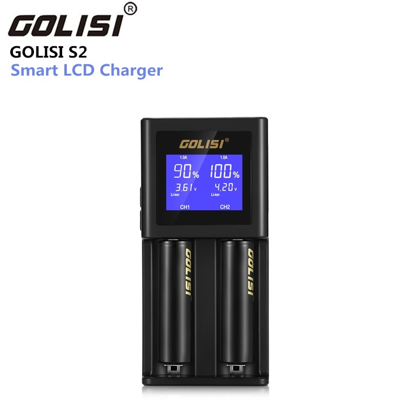 Golisi S2 2.0A Smart LCD Charger for 18650 20700 26650 Li-ion Ni-MH Ni-Cd AA AAA Rechargeable Battery (Not Included) стоимость