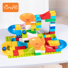52PCS Marble Race Run Maze Ball Track Building Blocks Plastic Funnel Slide Big Size Bricks
