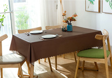 Solid color waterproof tablecloth, disposable oil-proof and anti-hot tea table mat, anti-cotton fabric hotel cloth