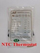 100pcs A2-F 115C 2A 250V degree Thermal Cutoff RH115 Thermal-Links Black Square temperature fuse