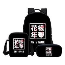 3 PCS/SET BTS Letter Printing Backpacks