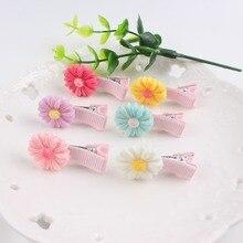 Диаметр 20 мм Хризантема девушка из смолы клип 6 цветов шпильки аксессуары для волос для детей заколки 1 шт BM039