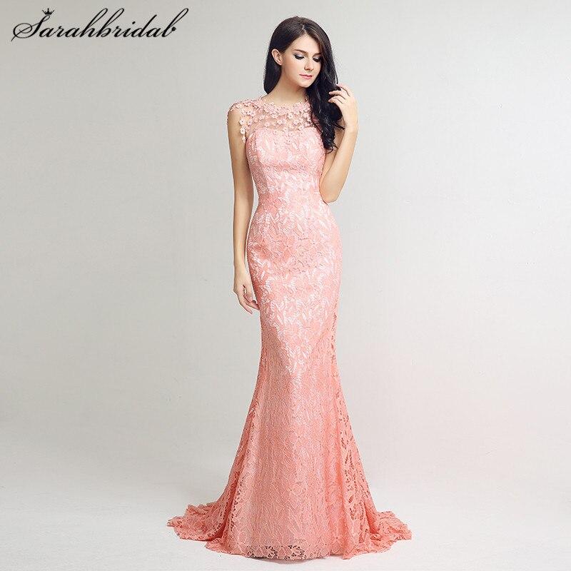 Vestido Largo De Noche Pink Crystals Mermaid Prom Dresses 2018 ...