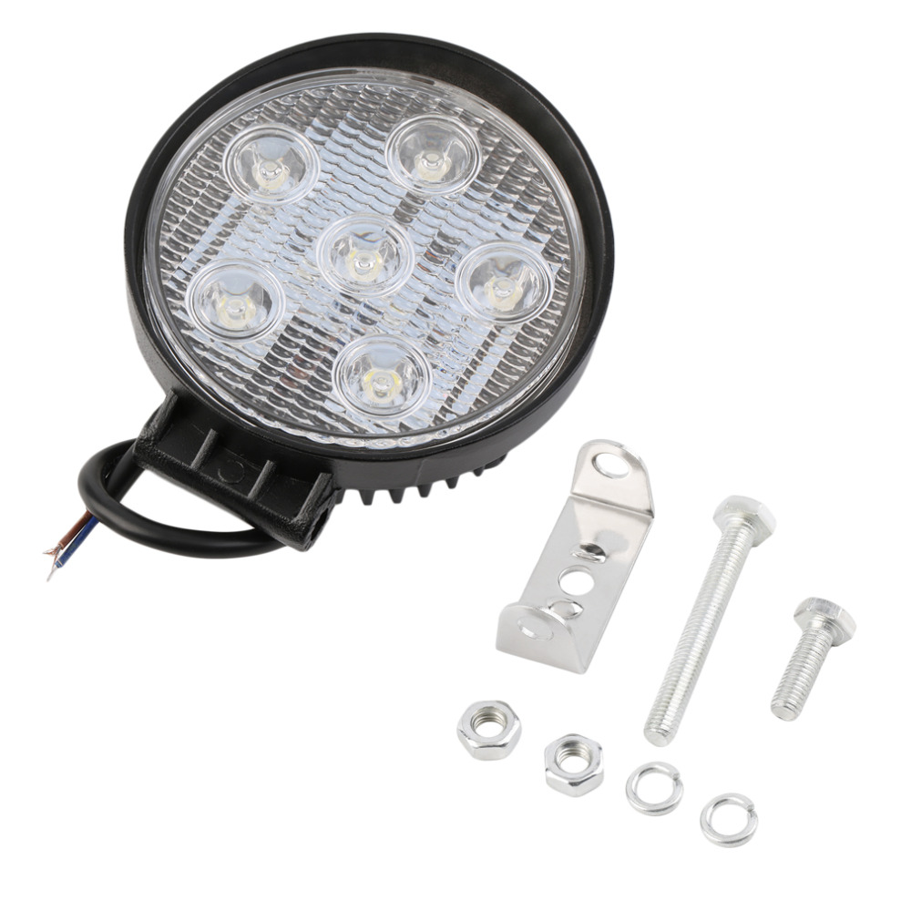 18w Led Work Light 6 Leds LEDs Tractor Boat Truck SUV ATV Spot Flood Super Bright IP68 Led Lamp Car New Arrivals brand new microscope achromatic objective lens 4x 10x 40x 100x set free shipping