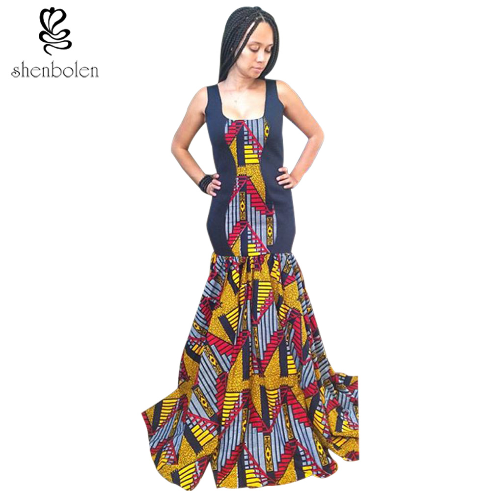 African Material Dresses Evening