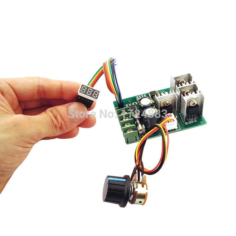 все цены на  PWM DC motor speed controller Digital display  0~100% adjustable drive module 6V~60V Input Max30A  онлайн