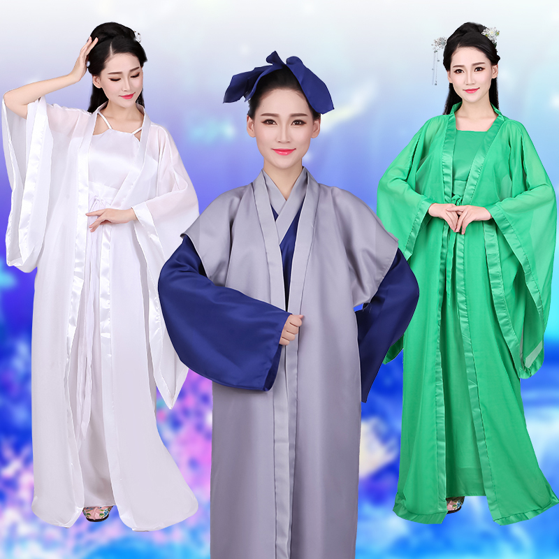 Vintage Women Men Stage Performance Clothes Chinese Ancient COSTUME Madame White Snake Movie Cosplay Clothing Size S M L XL