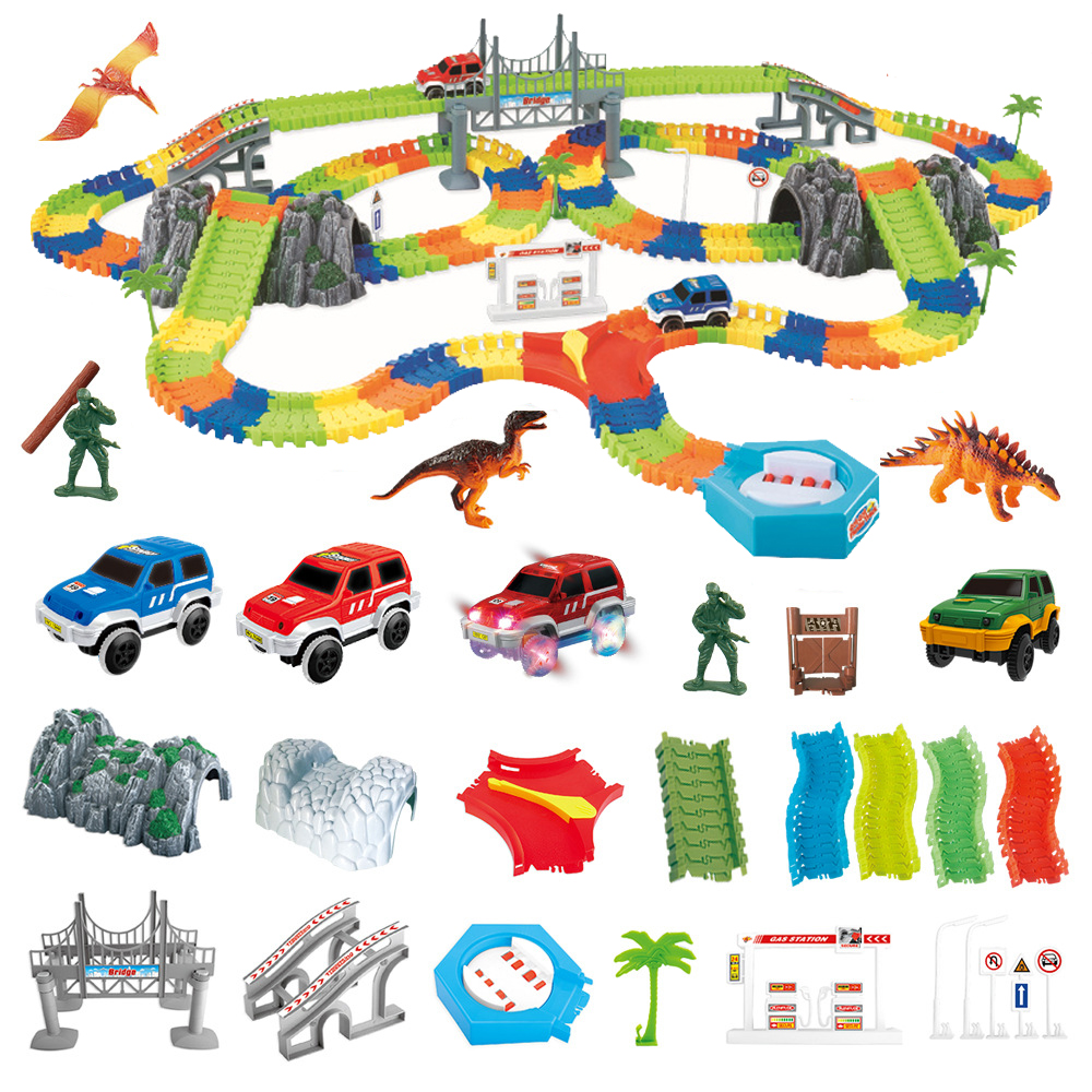 5.5cm Magical Rail Car Toy Racing Tracks Car DIY Universal Accessories For Magic Track Educational Toys For Children Kids Gifts