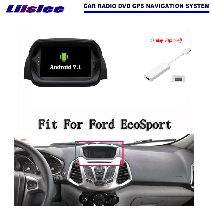 Liislee Android 7.1 2G RAM For Ford EcoSport 2013~2016 Car Radio Audio Video Multimedia DVD Player WIFI DVR GPS Navi Navigation android 7 1 2g ram for hyundai ix45 santa fe 2012 2016 car radio audio video multimedia dvd player wifi dvr gps navi navigation