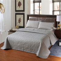 Solid Color Bedspread Pillowcase Set Floral Hollow Out Bedroom Decoration Queen/King Size Bed Cover