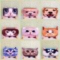Kawaii 3D Животных Кошка Собака Школа Карандаш Сумка Плюшевые Ткани Канцелярские Студенческие Призы Для Детей Подарок Школьные Принадлежности
