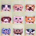 Kawaii 3D Animals Cat Dog School Pencil Bag Case Plush Fabric Stationery Student Prizes For Children Gift School Supplies