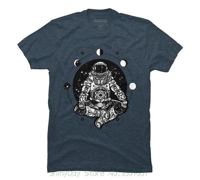 הגעה חדשה זכר מזדמן טיז צמרות ילד החולצה הנחות Cosmonaut זן של גברים חולצה גרפית-