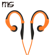 free shipping wired sports earphones remote control for for apple in ear earphones