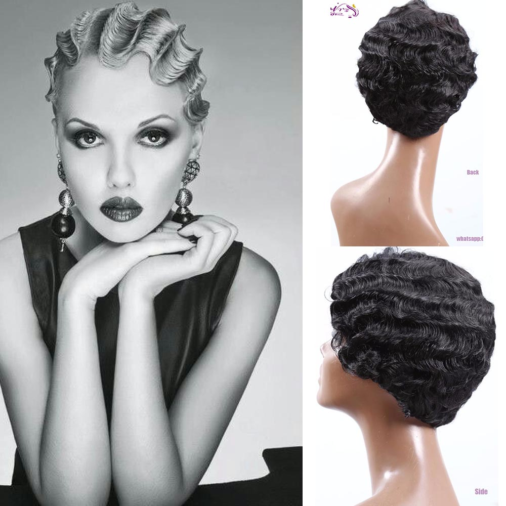 Groovy Popular Finger Wave Wig Black Buy Cheap Finger Wave Wig Black Lots Hairstyle Inspiration Daily Dogsangcom
