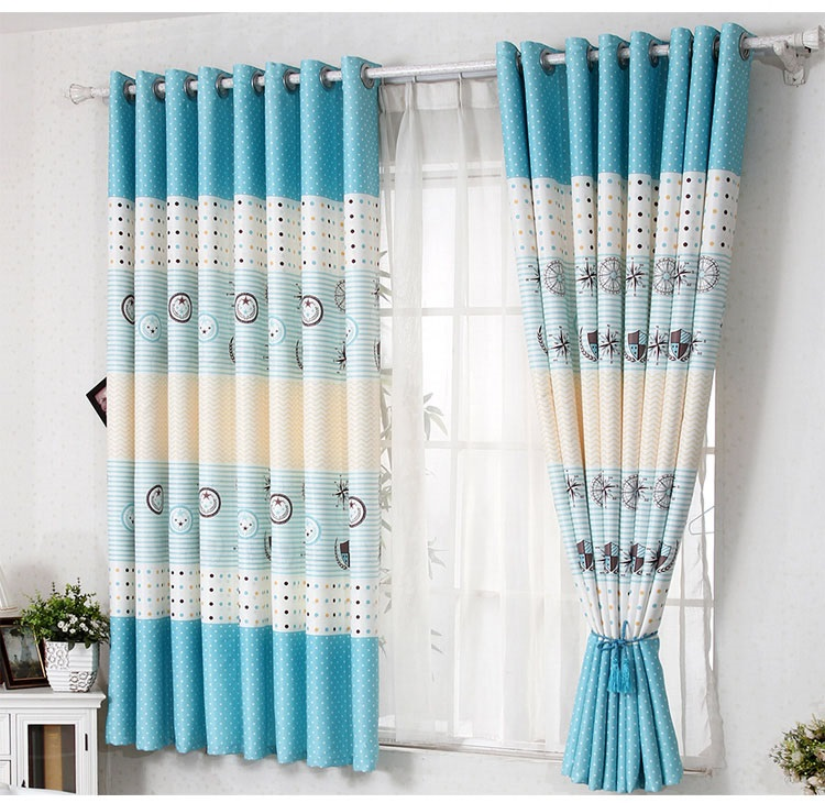 marine style series of short blackout curtains curtains finished suitable for room