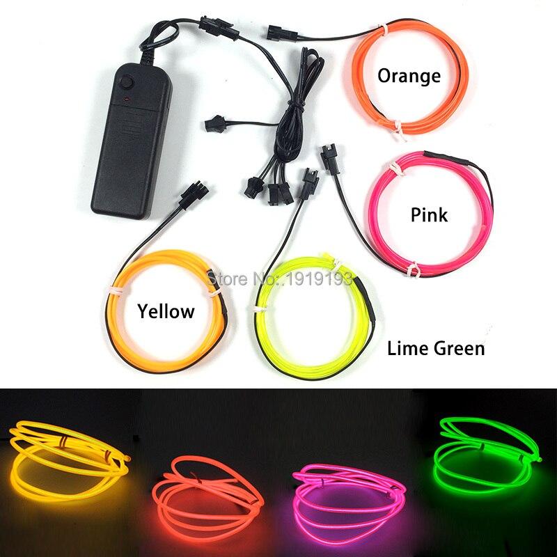 Hot Sales Brightness Led Strip Custom Color 2.3mm 1M x 4pieces Fashionable Multicolor Neon Led Light for Housewarming Decorative