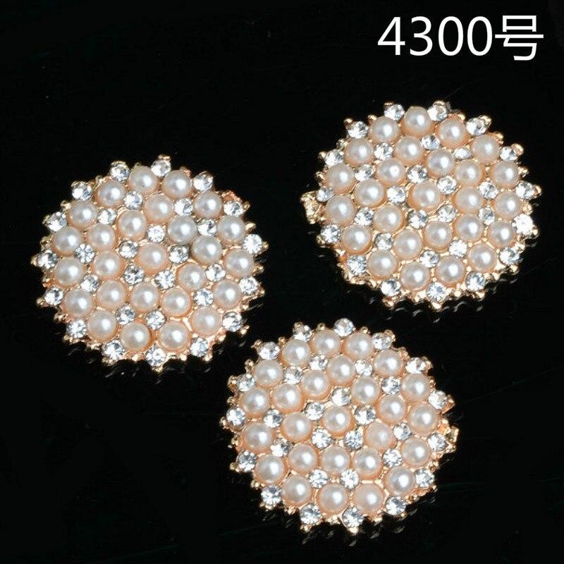 50 pçs 20mm liga material ouro cor