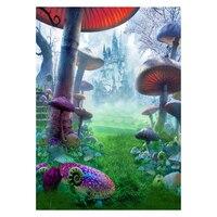 fantasy mushroom photography backdrops props vinyl 5x7FT background photo studio