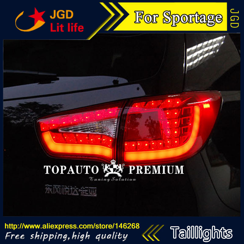 Car Styling tail lights for KIA Sporttage 2010-2014 LED Tail Lamp rear trunk lamp cover drl+signal+brake+reverse стоимость