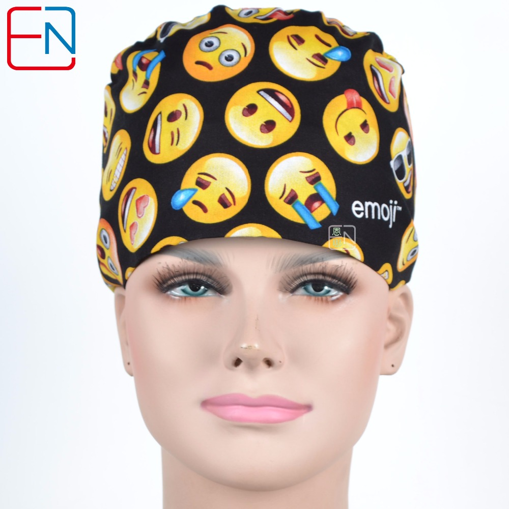 Hennar Scrub Caps 2018 New Pattern Print Design For Medical Scrub Cap  Doctor Nurse Cap Hospital Surgical Caps Masks 100% Cotton