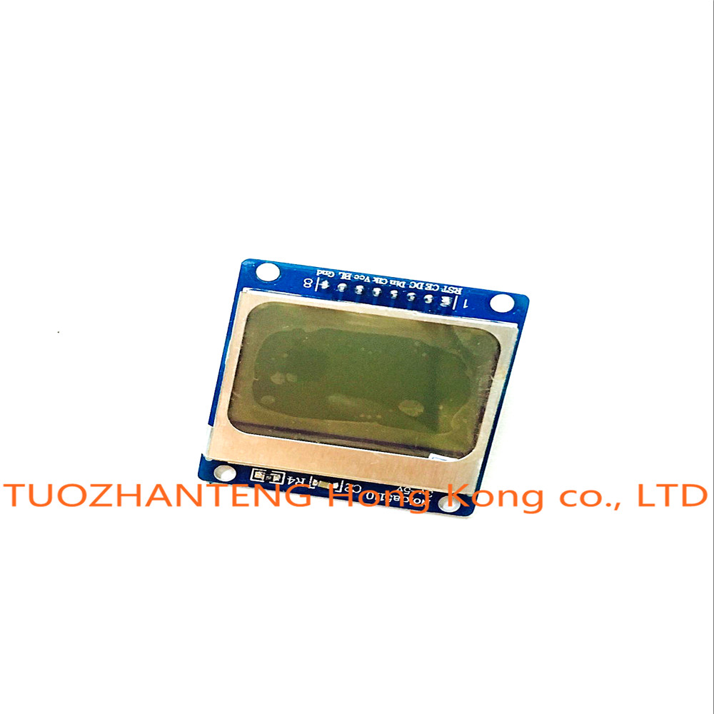 Nokia 5110 lcd module monochrome display screen 84 x 48 for arduino - 1pcs Blue 84x48 Nokia 5110 Lcd Module With Blue Backlight With Adapter Pcb Lcd5110 For Arduino Freeshipping In Lcd Modules From Electronic Components