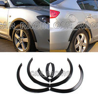 Black PU Wheel Arch Fender Flares Trim 8Pcs/Set Fit for Mazda 3 2006 2010