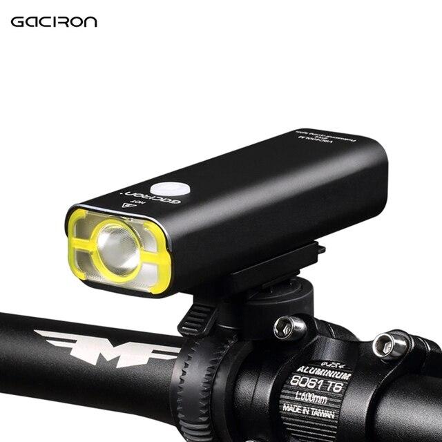 GACIRON USB Перезаряжаемый велосипедный фонарь передний руль велосипедный фонарь светодио дный фонарик фонарь фара лампа