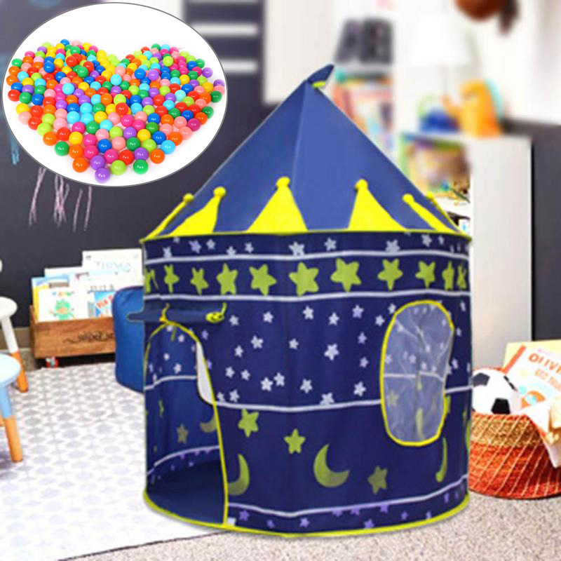 6a5dc3fc2 Mongolia Play Tent Portable Foldable Tipi Prince Folding Tent Children Boy  Castle Cubby Play House Kids Gifts Outdoor Toy Tents