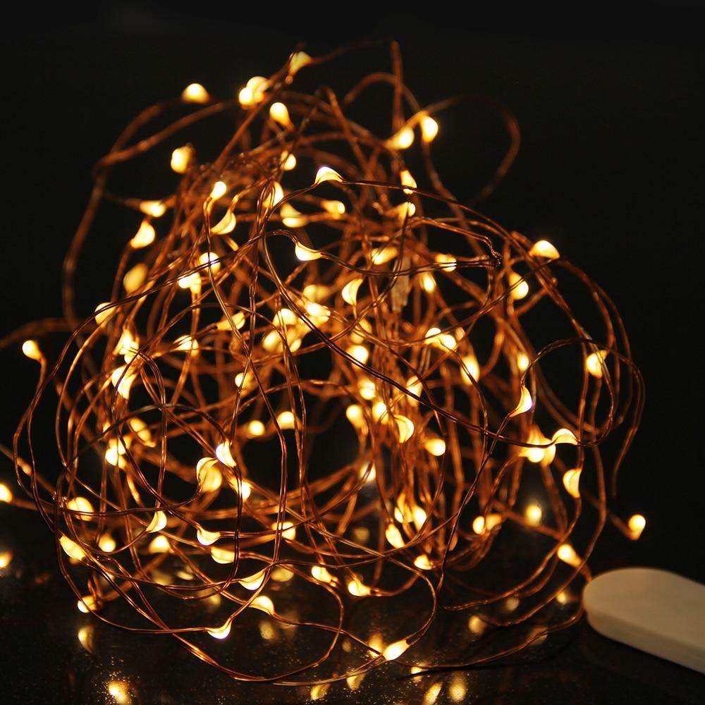 3 М Медный Провод СВЕТОДИОДНЫЕ Строки Водонепроницаемый Сказочный Свет Открытый Праздник Света Для Партии Рождество Свадебные Украшения С Батареей