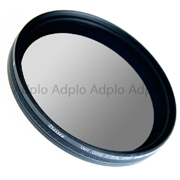 Daisee  72 mm VARIABLE GND C-PL PRO DMC SLIM Filter / GRADUATED gray neutral density  + Circular-Polarizing Filters