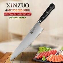 XINZUO 9. 5 zoll fleischermesser 3 schichten 440C core verkleidet edelstahl küchenchef 240 Gyuto cleaver küchenmesser G10 griff