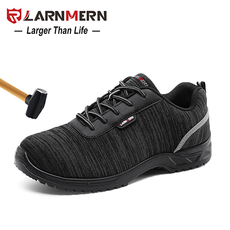 LARNMERN S1P Men Safety Shoes Composite Toe Anti-static Lightweight Breathable Construction Protective FootwearLARNMERN S1P Men Safety Shoes Composite Toe Anti-static Lightweight Breathable Construction Protective Footwear