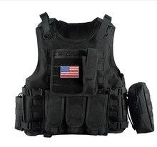 2017 militärische Taktische Weste Camouflage Körper Rüstung Sportbekleidung Jagd Weste Armee SWAT kampf Molle polizei kugelsichere Weste Schwarz