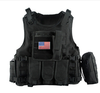 2017 Military Tactical Vest Camouflage Body Armor Sports Wear Hunting Vest Army SWAT combat Molle police bulletproof Vest Black