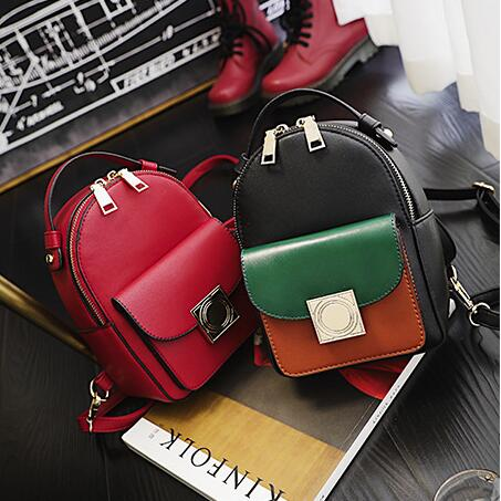 2017 Fashion new Female bag College wind High quality PU leather Women  Backpack Korean mini backpack Design shoulder bags girl-in Backpacks from  Luggage ... a28062d6a9566