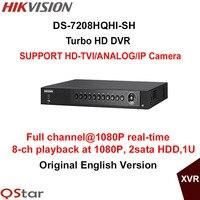 Hikvision Original 8ch 1080P Turbo HD DVR DS 7208HQHI SH Support HD TVI Analog IP Camera