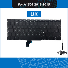 Laptop Keyboard + Backlight + Screws + Tool For Macbook Pro 13″ A1502 UK Keyboard Replacement 2013 2014 2015