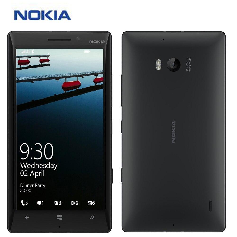 "Original New EU Version Nokia Lumia 930 Mobile Phone 4G LTE 5"" Snapdragon 2GB 32GB Microsoft Windows Phone 8.1 20MP Smart Phone"