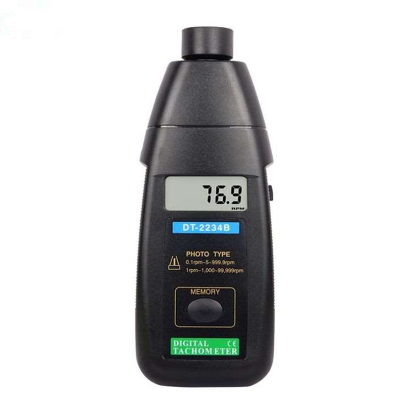 Digital Tachometer laser DT-2234B Digital Laser Photo Tachometer Non Contact RPM Meter velocity rpm tachometer  цены