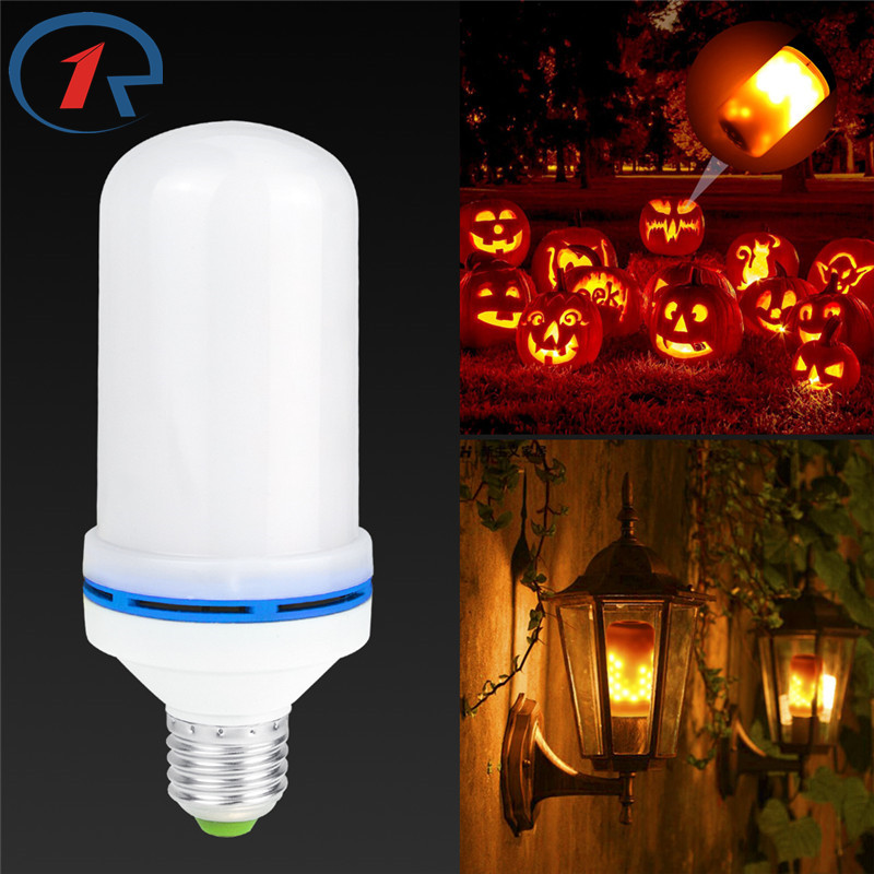 ZjRight 3 modes+Gravity Sensor Flame Lights E27 LED Flame Effect Fire Light Bulb AC 85-260V Flickering Emulation Decor Light