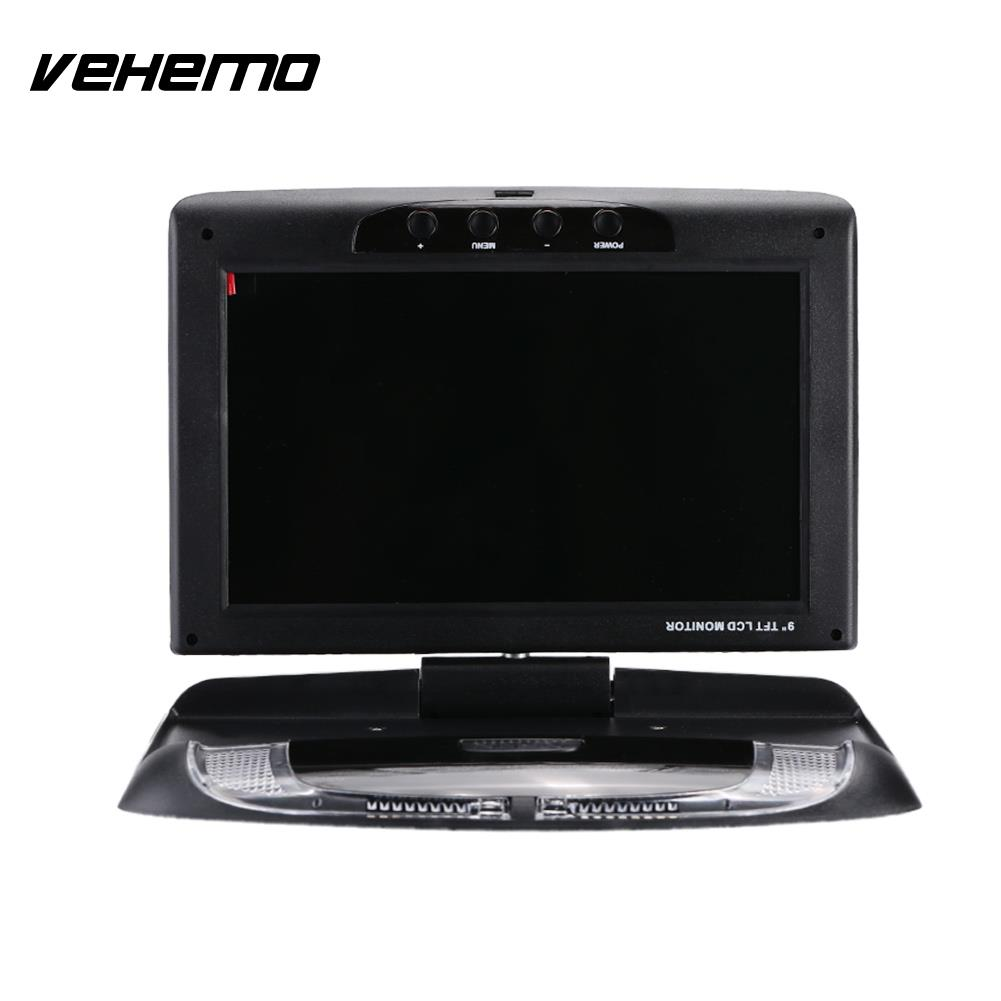 9 Inch Smart Car Monitor Flip Down Roof Mount Monitor Vehicles Car DVD Monitor Portable Overhead Car Displayer gizcam 10 2 car ceiling flip down overhead roof mount hd screen video monitor car flip down monitor new