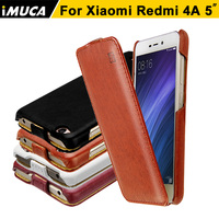 Xiaomi Redmi 4A Case Flip Leather Back Cover Case For Xiaomi Redmi 4A Cover Coque IMUCA