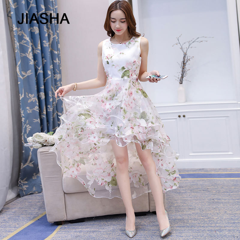 Новое поступление, летнее платье 2018, женское элегантное милое бальное платье без рукавов с круглым вырезом, белое платье из органзы, вечерне...