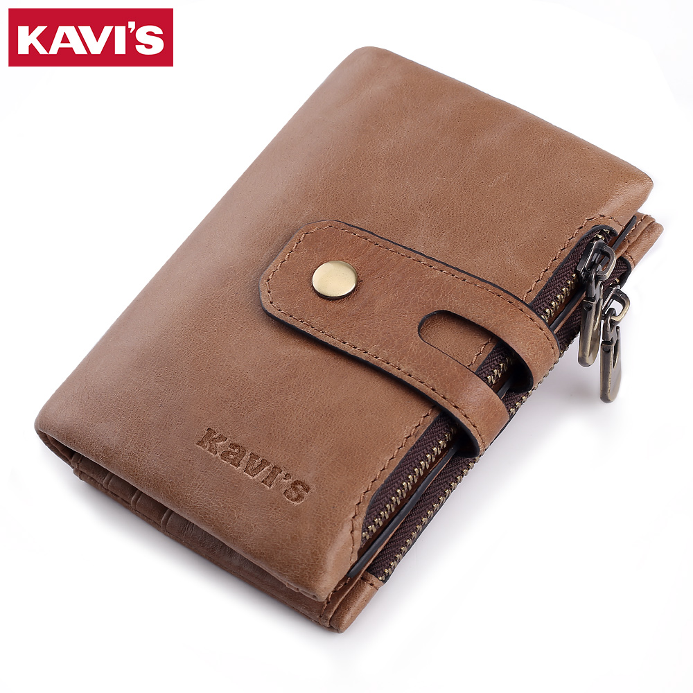 KAVIS Genuine Leather Men Wallet Coin Purse Small Male Cuzdan Portomonee Clamp Money Bag Card Holder Quality Vintage PocketKAVIS Genuine Leather Men Wallet Coin Purse Small Male Cuzdan Portomonee Clamp Money Bag Card Holder Quality Vintage Pocket